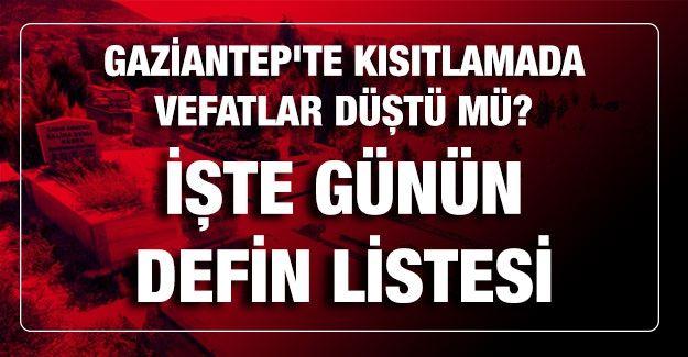 Son dakika.... Gaziantep'te vefatta korkutan yükseliş devam ediyor ! 28 Şubat 2021 Bugün (Pazar)  kaç kişi öldü?  İşte Gaziantep'te 28 Şubat 2021 Bugün (Pazar) günün  defin listesi