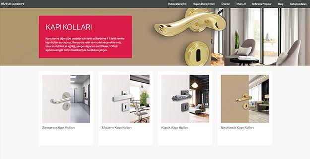 Hafele Concept ile Benzersiz Kapı Kolları