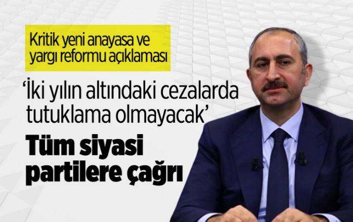 Abdulhamit Gül'den çarpıcı açıklamalar: İki yılın altındaki cezalarda tutuklama olmayacak