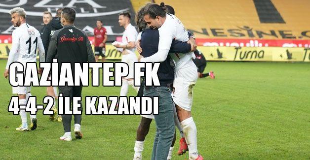 GAZİANTEP FK 4-4-2 TAKTİĞİ İLE KAZANDI