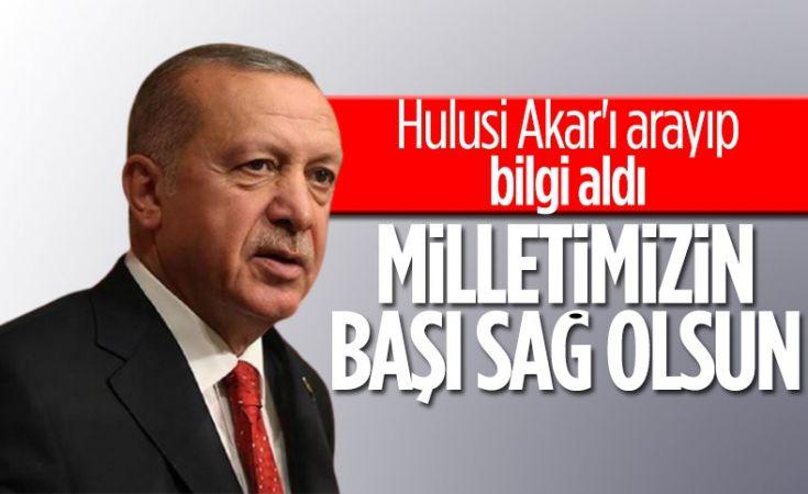 Cumhurbaşkanı Erdoğan'dan helikopter kazası için başsağlığı mesajı