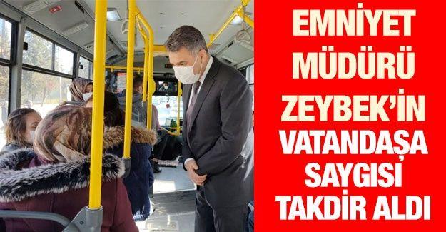Gaziantep Emniyet Müdürü Zeybek'in vatandaşa saygısı takdir topladı