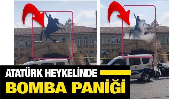 Son dakika... Gaziantep Atatürk heykelinde bomba paniği