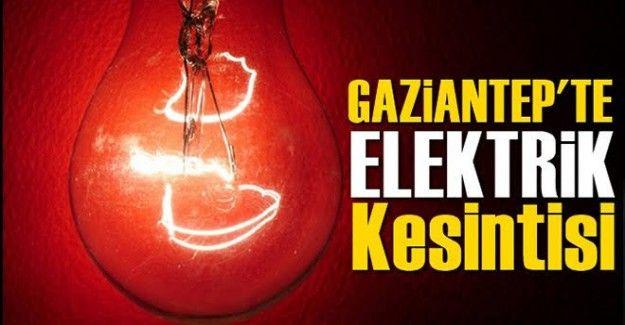 Son Dakika...Gaziantep'te 09.03.2021 Yarın(Salı) Elektrik Yok...Gaziantep'e Enerjisa 09.03.2021 Yarın(Salı) Günü İçin Duyurdu....Gaziantep'te yine elektrik kesintisi