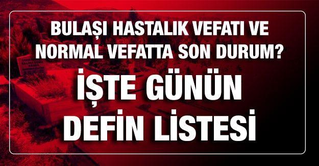 Son dakika...Gaziantep'te 12.03.2021 (Cuma) Bugün Bulaşıcı hastalık vefatı ve normal vefatta son durum?Gaziantep'te 12.03.2021 (Cuma) Bugün kaç kişi öldü? İşte Gaziantep'te günün defin listesi