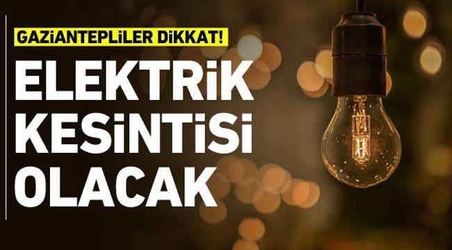 Son Dakika...Gaziantep'te Yarın 13 Mart 2021 (Cumartesi) İçin Enerjisa elektrik kesintisini duyurdu...13 Mart 2021 Cumartesi (Yarın)...Gaziantep'te elektrik kesintisi bitmiyor