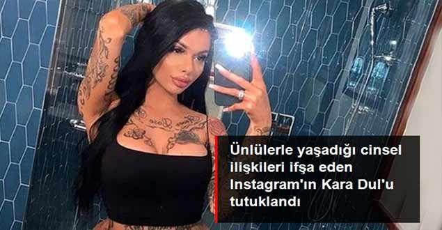 Ünlülerle cinsel ilişkiye girdiğini iddia eden Instagram'ın 'Kara Dul'u tutuklandı...Instagram modeli Celina Powell, polis tarafından direksiyon başında yakalanır yakalanmaz cezaevine gönderildi.