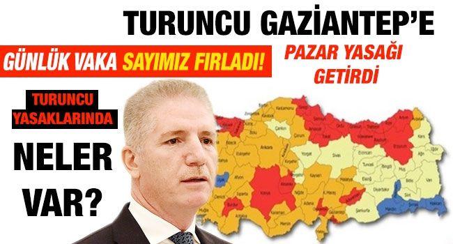 Turuncu Gaziantep'e Pazar yasağı getirdi... Günlük vaka sayımız fırladı... Turuncu yasaklarında neler var?