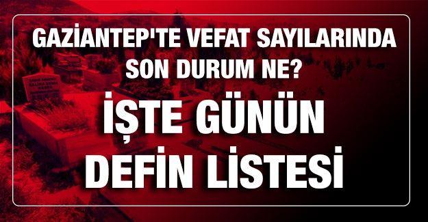Son dakika Gaziantep'te vefat sayılarında son durum ne? Bugün kaç kişi öldü? İşte günün defin listesi