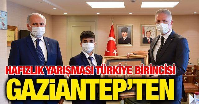 Hafızlık Yarışması Türkiye Birincisi Gaziantep'ten
