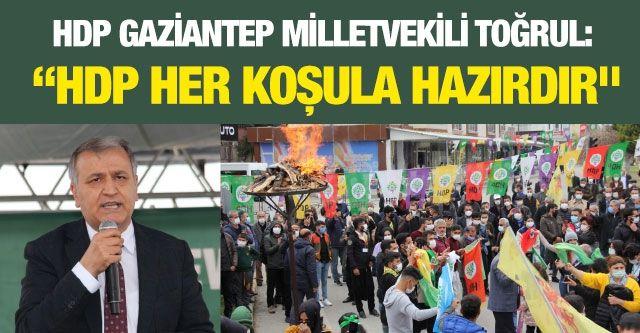"""Toğrul: """"HDP her koşula hazırdır"""