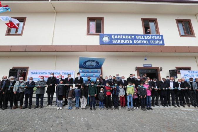 Şahinbey'den bir tesis de Sarıkaya Mahallesine