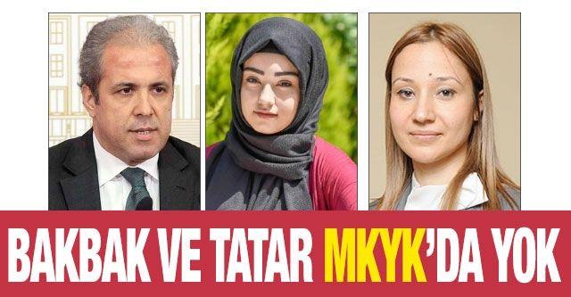 Bakbak ve Tatar MKYK'da yok