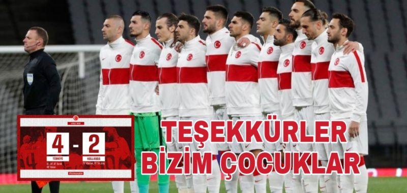 TEBRİKLER MİLLİ TAKIM..