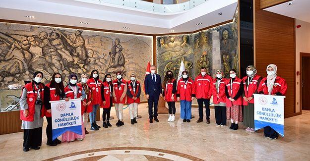 Damla Projesi Gönüllüleri Gaziantep'te…