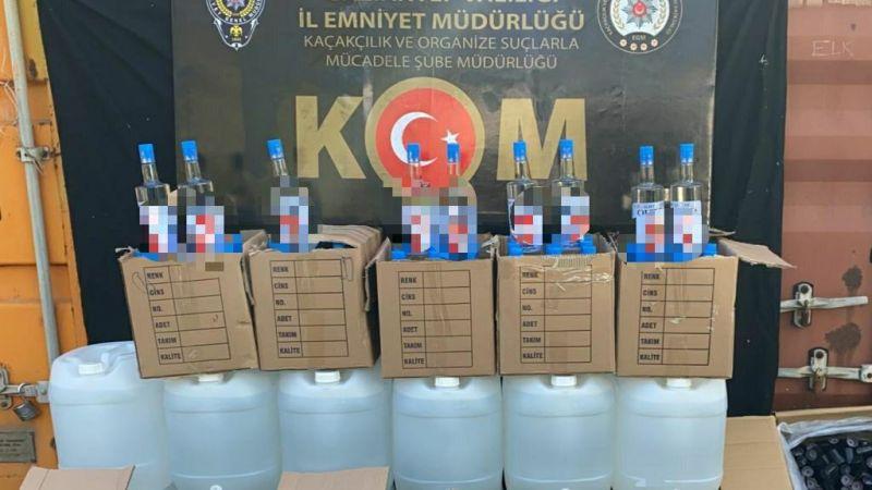 Gaziantep'te 360 litre kaçak etil alkol ele geçirildi