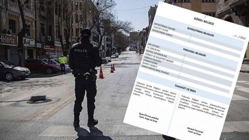 Gaziantep'te çelişkili sokağa çıkma izin belgesi