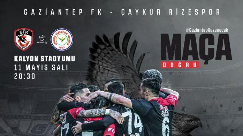 Gaziantep FK, Rizespor'u ağırlıyor