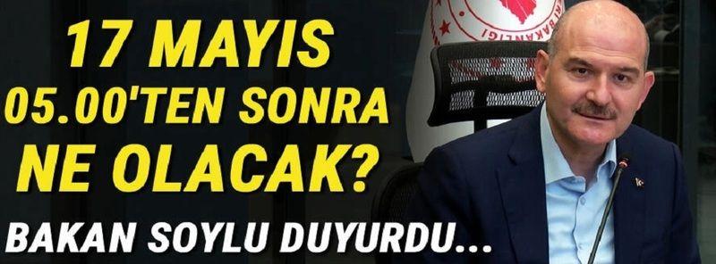 Son dakika... İçişleri Bakanı Soylu'dan tam kapanma sonrası normalleşme açıklaması!