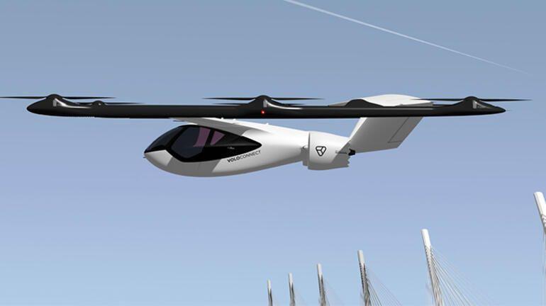 Daha uzun uçuşlar için sabit kanatlı uçan taksi yolda