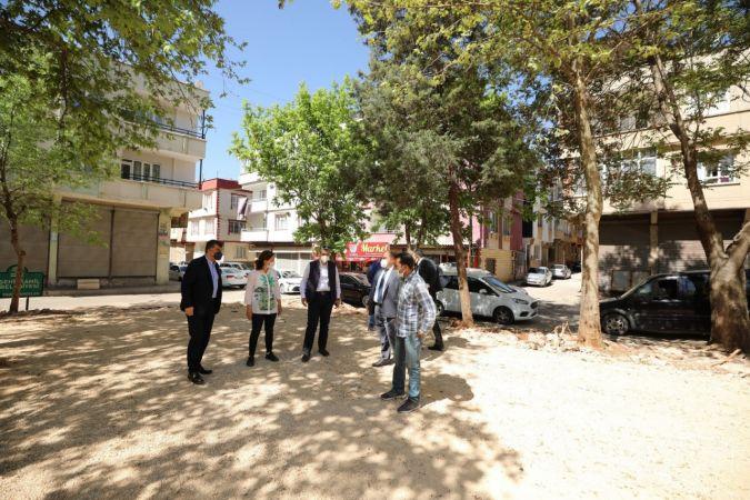 Başkan Fadıloğlu,park çalışmalarını inceledi