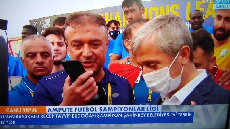 Cumhurbaşkanı Erdoğan, Şampiyonu kutladı