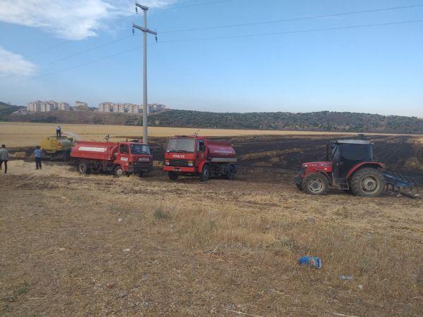 Gaziantep'te 40 dönüm buğday ekili tarla yandı