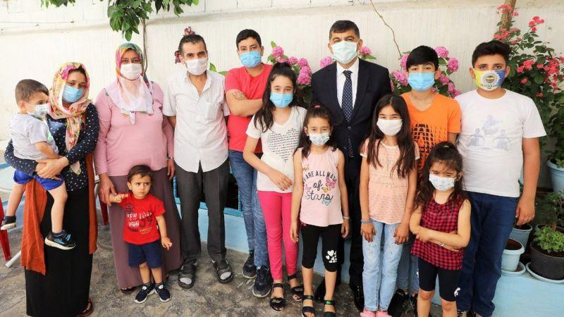 Başkan Fadıloğlu'ndan öğrencilere moral ziyareti