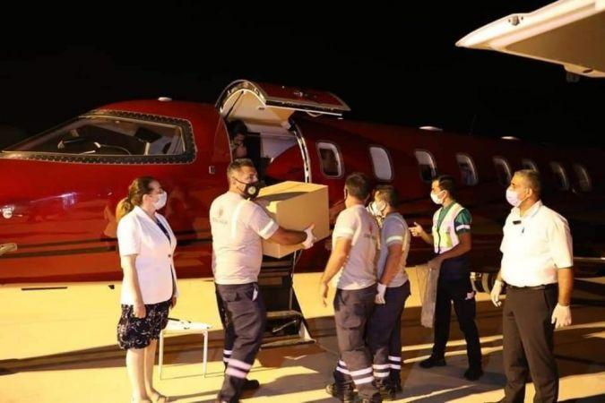 Türkiye'nin gönderdiği 50 bin doz Sinovac aşısı KKTC'ye geldi