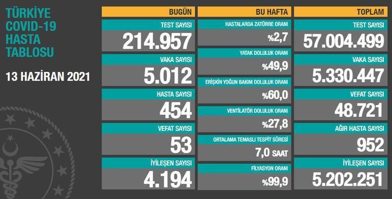 Son dakika... Türkiye ve Gaziantep'te  13 Haziran corona virüsü tablosu ve vaka sayısı Sağlık Bakanlığı tarafından açıklandı! İşte son 24 saatte yaşanan gelişmeler