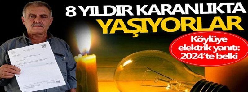 Gaziantep'te Pes Derdirten Olay...Yıllardır evine elektrik bağlatmak için çalmadığı kapı bırakmadı