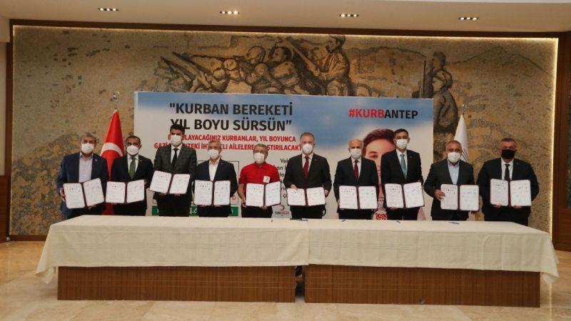 Şahinbey'den 'KurbanAntep' projesine destek
