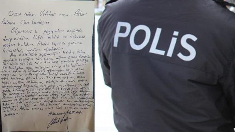 Gaziantep-İzmir hattında Polisin Mektubu konuşuluyor..Polisin İntihar Mektubu Ortalığı karıştırdı