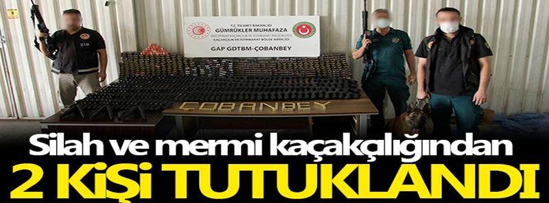 Silah ve mermi kaçakçılığından 2 kişi tutuklandı
