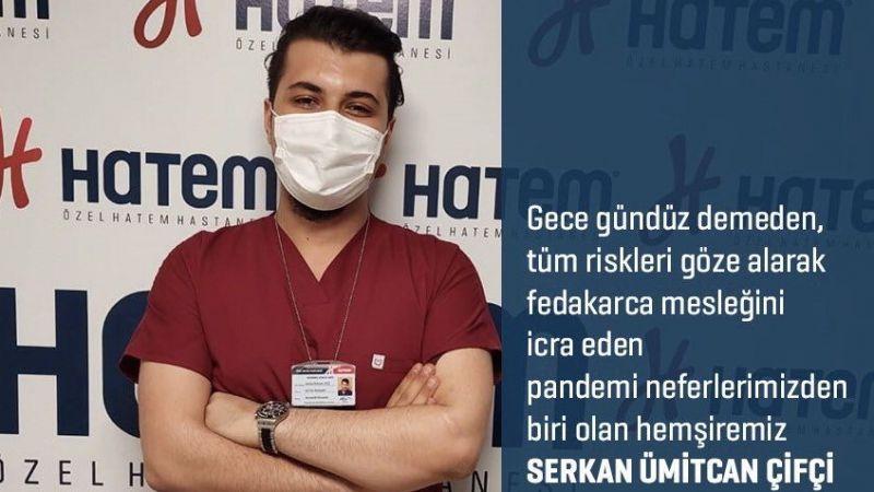 Hatem Hastanesi hemşiresi Serkan Çifçi'den rekor düzeyde aşı sayısı!