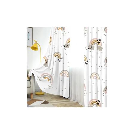 Renkli Bebek Odası Perdeleri