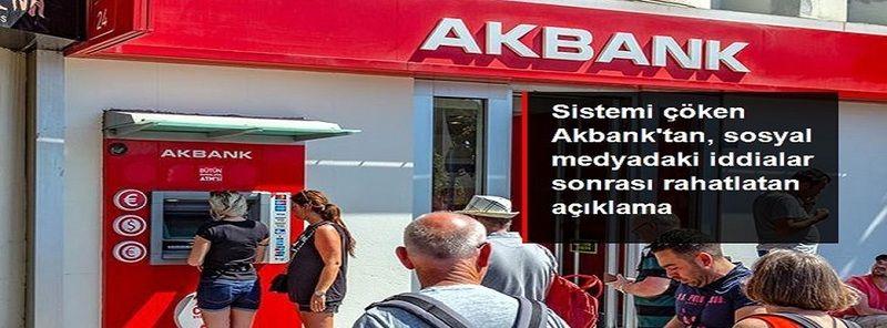 Son Dakika:Akbank'tan yeni açıklama: Siber saldırı iddiaları gerçek dışıdır