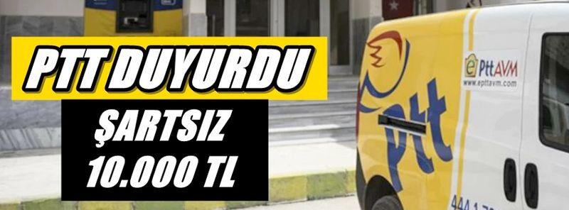 Flaş Haber: PTT'den Bayram Öncesi 10 Bin TL Şartsız Kredi