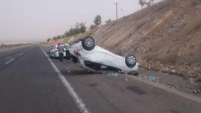 Son Dakika: Kurban Bayramı İçin Gaziantep'e gelen otomobil devrildi: 4 yaralı
