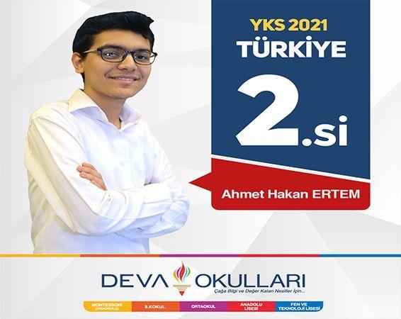 Özel Deva Okulları 2021 YKS'de Türkiye 2.si