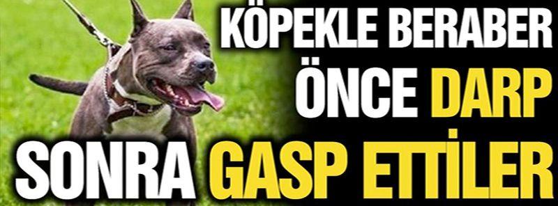 Gaziantep'te Köpekle beraber önce darp sonra gasp ettiler