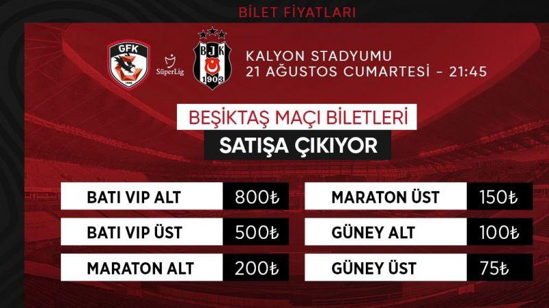 Beşiktaş maçının bilet fiyatları açıklandı