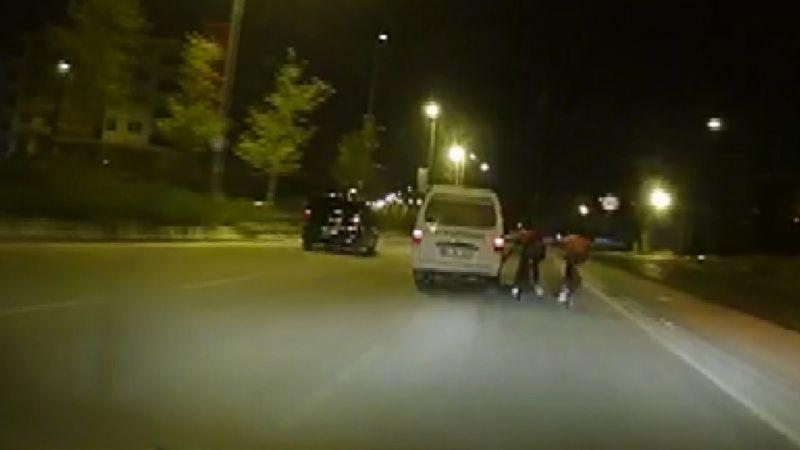 Gaziantep'te bisikletli gençler ölüme meydan okudu