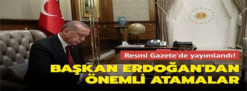 Son Dakika Haber: Bakanlıklarda kritik atamalar! Erdoğan'ın imzasıyla Resmi Gazete'de yayımlandı