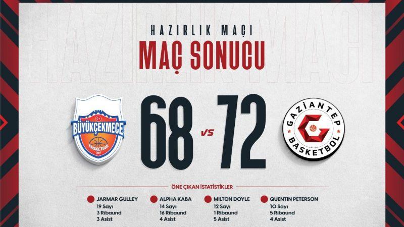 Gaziantep Basketbol 68-72 kazandı