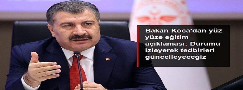 Son Dakika! Bakan Koca'dan Gaziantep dahil Türkiye'ye yüz yüze eğitim açıklaması: Öğrencilerimizin durumunu yakından izleyeceğiz