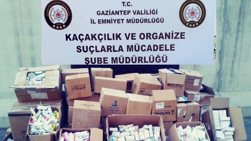 Son Dakika: Gaziantep'te 80 bin kaçak ilaç ele geçirildi