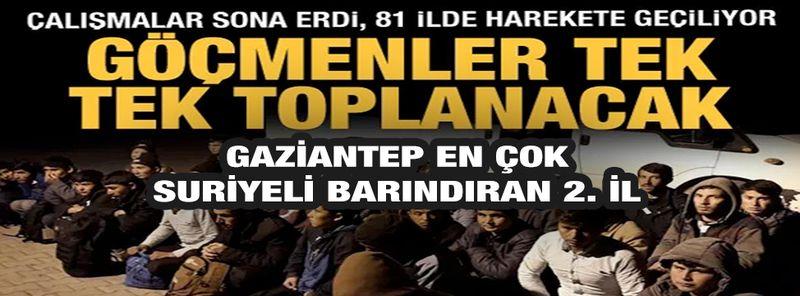 Son Dakika: Gaziantep Türkiye'de Suriyeli Sayısında 2. Sırada...Kayıtsız göçmenler il il toplanacak