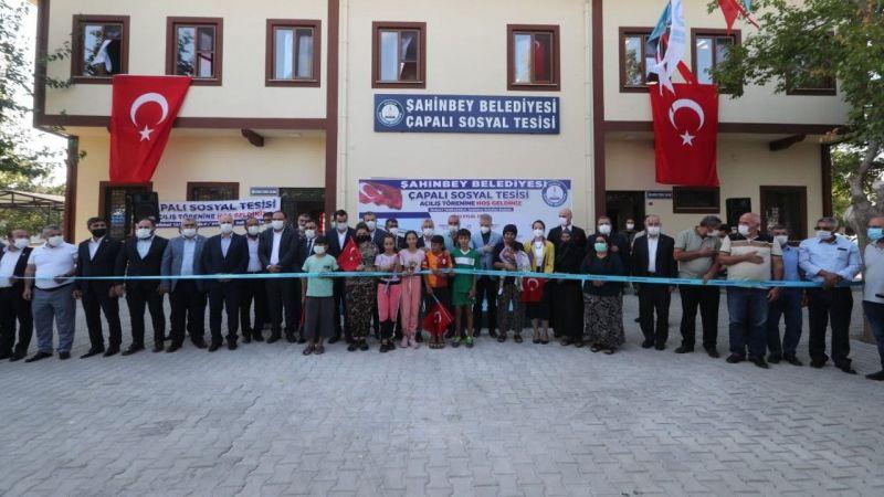 Şahinbey'den bir tesis de çapalı köyüne