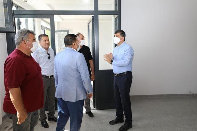 Başkan Fadıloğlu M.Hayri Özkeçeci Spor Kompleksini inceledi